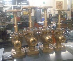 Completed Klinger valves